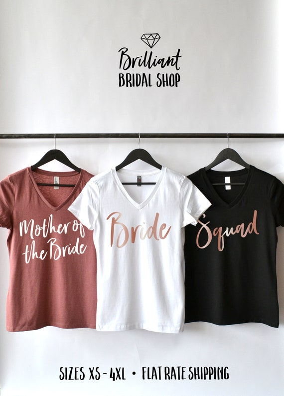 01d3b581365 Mother of the Bride Shirt Bridal Party Shirts Squad Shirt