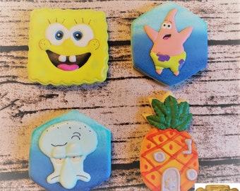 SpongeBob Patrick Star Squidward Tentacles Pineapple House   Etsy