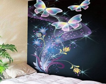 Tapestry Wall Hanging Throw  Butterfly