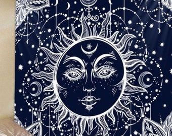 Tapestry Wall Hanging Throw Sun Moon