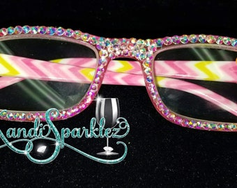 a065373f613 Blinged Reading Glasses with Glass Stones