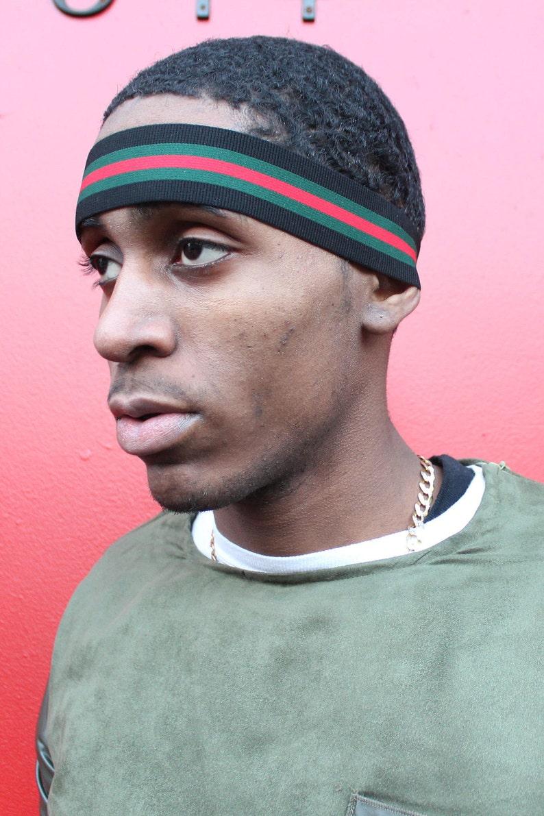 26603b6da Gucci Inspired Headband Man Headband Elastic Headband | Etsy