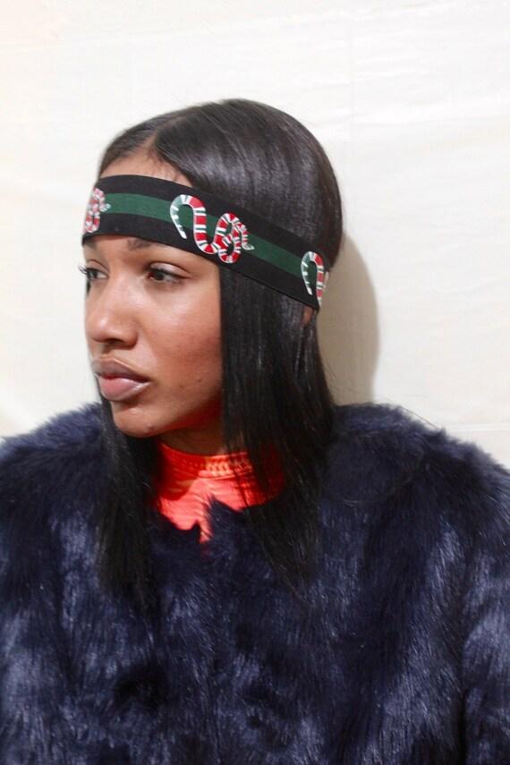 Snake Headband Women Black Green Fashion Headband Designer  ca94a9d42d3