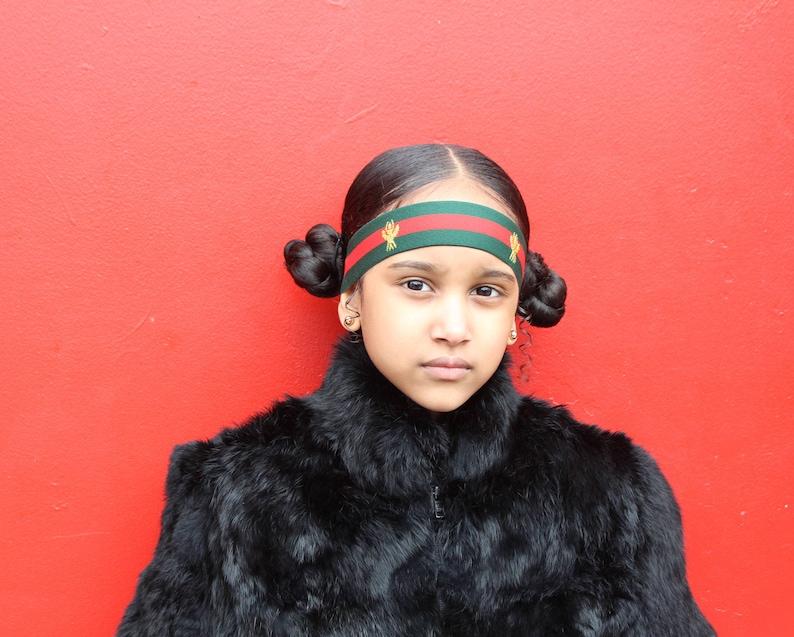 bd7317af020 Baby Headband Green Red Bee Headband Designer Strap Unisex