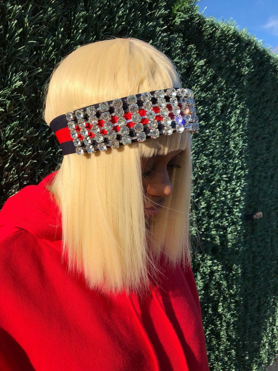 Gucci Inspired Large Crystal Headband Fashion Rhinestone  131e17c8800