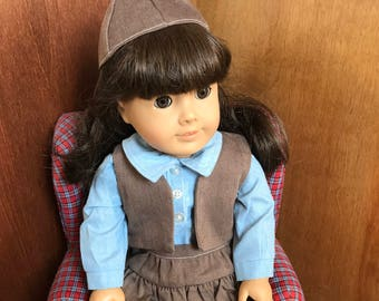 American Girl Doll Clothing, Licensed Vintage Girl Scout Brownie Uniform #3