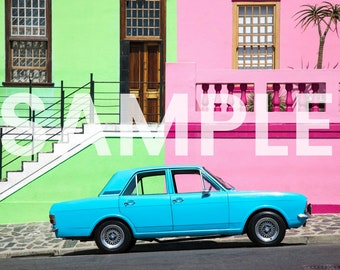 Blue Car of BoKaap Photo Download