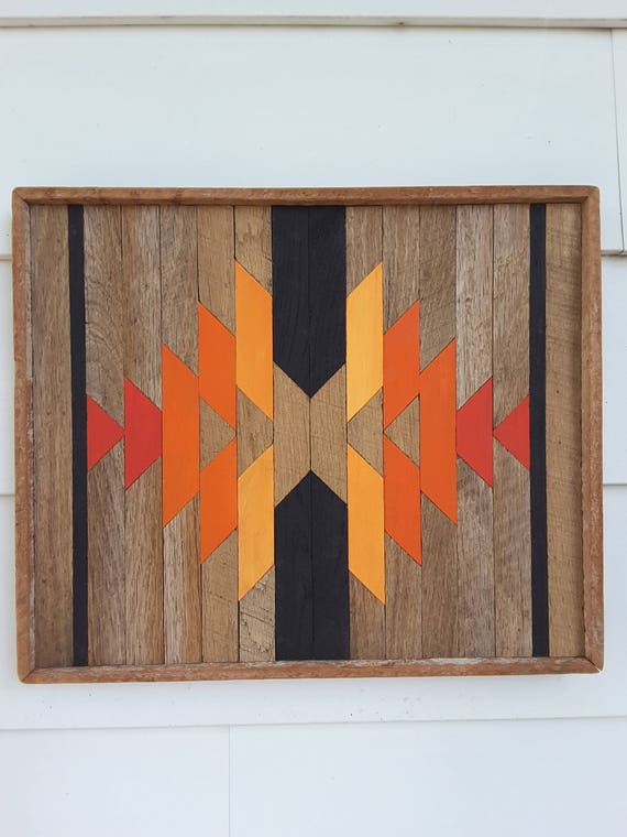 Reclaimed Wood Wall Art Southwest Decor Native American