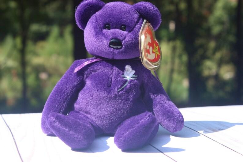 cfced00c5f5 Princess Diana Beanie Baby Purple Collectible Bear Royal