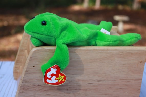 00ab5b4a86f Legs the Frog Beanie Baby TY Retired Frog Vintage Toy Frog