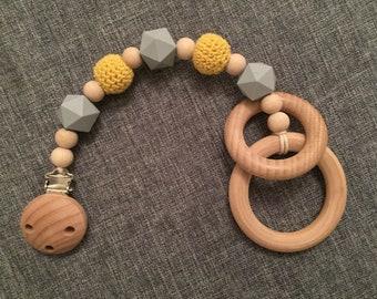 Pram Toy- Ring-Yellow