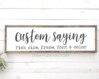 Custom Quote Signs Etsy