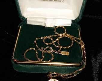 Vintage Gold Peace Dove Necklace