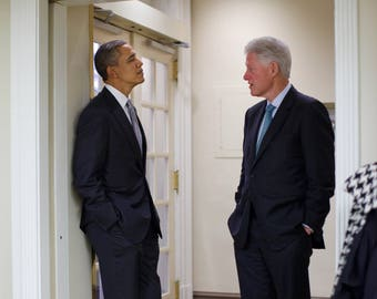 Barack Obama and Bill Clinton / Political 8 x 10 / 8x10 GLOSSY Photo Picture