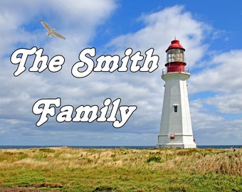Lighthouse / 11 x 14 / 11x14 GLOSSY Photo Picture ** PERSONALIZED ** Wall Decor / Print / Great Gift Idea