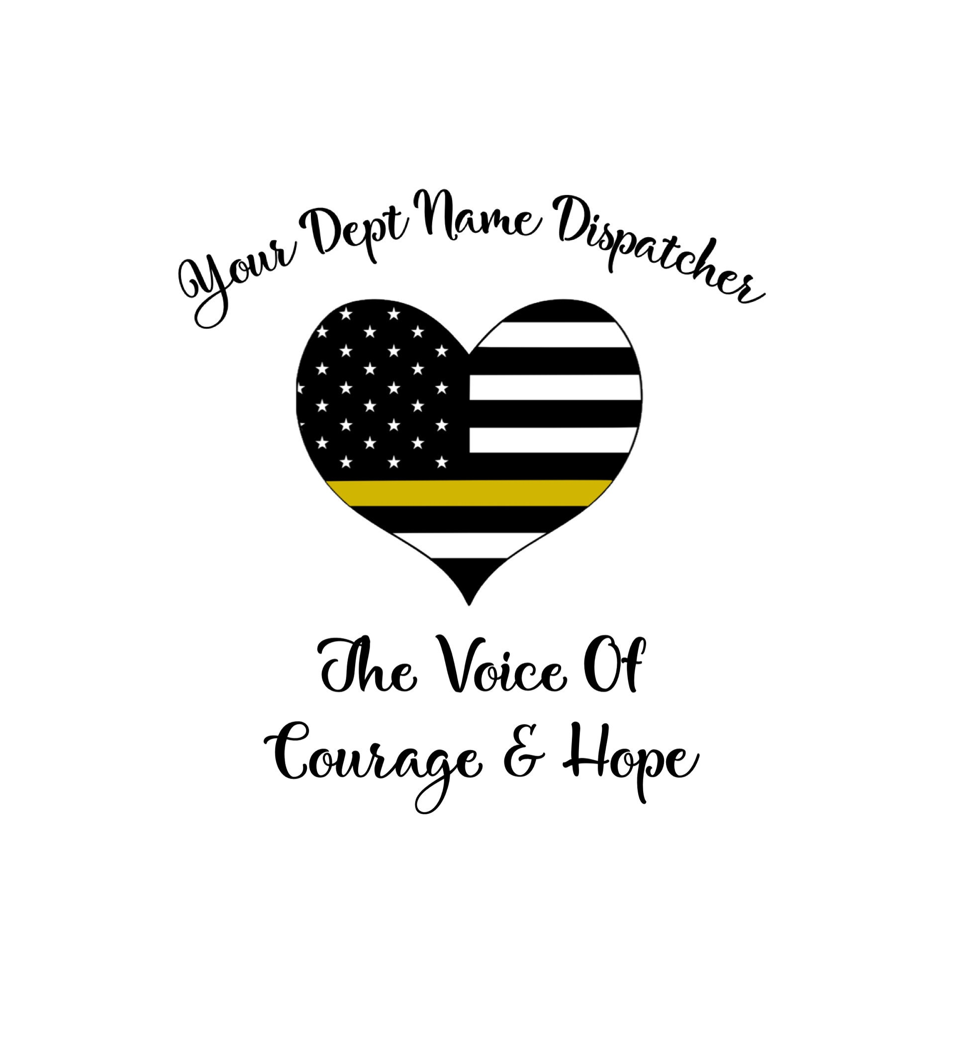 519810888f8 Customized Dispatcher Decal The Voice Of Courage and Hope | Etsy