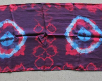 "15x60"" 8mm habotai silk scarf  red and blue make purple"