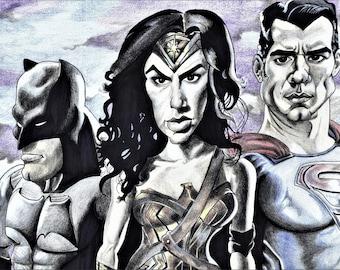 Batman - Wonder Woman - Superman - Ben Affleck - Gal Gadot - Henry Cavill