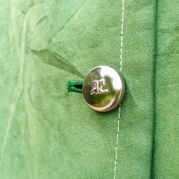 30 Vintage % de réduction! Veste en Suède Courréges Vintage 30 Designer André 41f66c