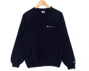 30% Off!! Vintage 90's Champion Script Logo Made in USA Jumper Pullover Sweatshirt Size L