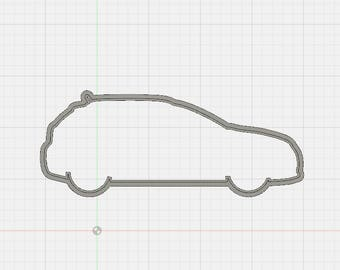 2015 Subaru Impreza Hatchback Cookie Cutter - 3D Printed