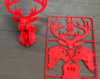 3D Printed Snap Fit Reindeer Ornament Card