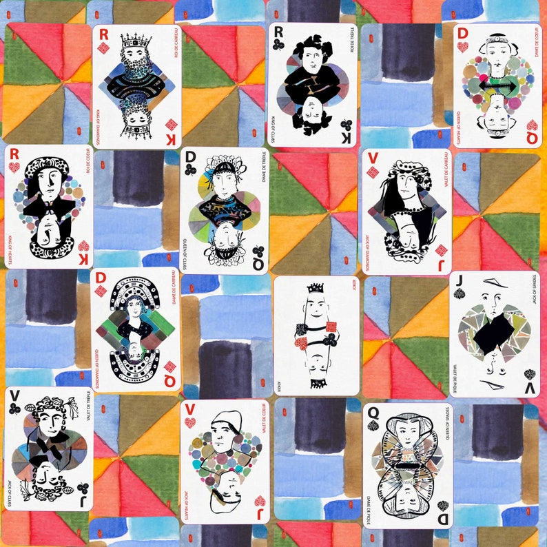bilingual artist card game watercolor and Chinese ink made in image 0