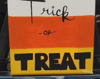 Trick or Treat Halloween Painting Original