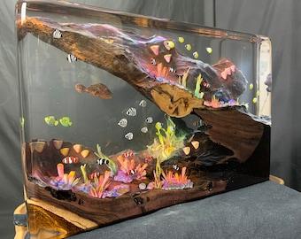 Reef Tank Diorama in Epoxy Resin 20x30x5cm
