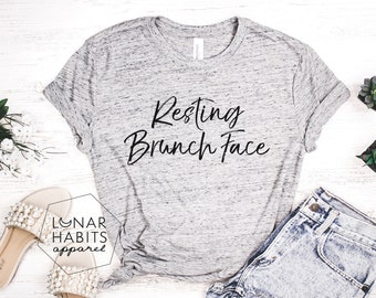 Friendship Gift Resting Brunch Face Wedding Party Gift- More Colors Available Upon Request Reusable Slim Can Cooler- Brunch Gift Idea