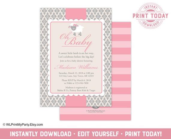 Personalised handmade New Baby-Carte fille-Lamb