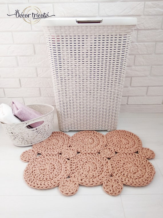 Crochet Bath Mats Spa Gift Small Bath Mat Bathroom Rug Set Etsy