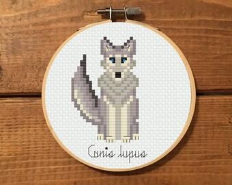 Grey Wolf Cross Stitch Pattern