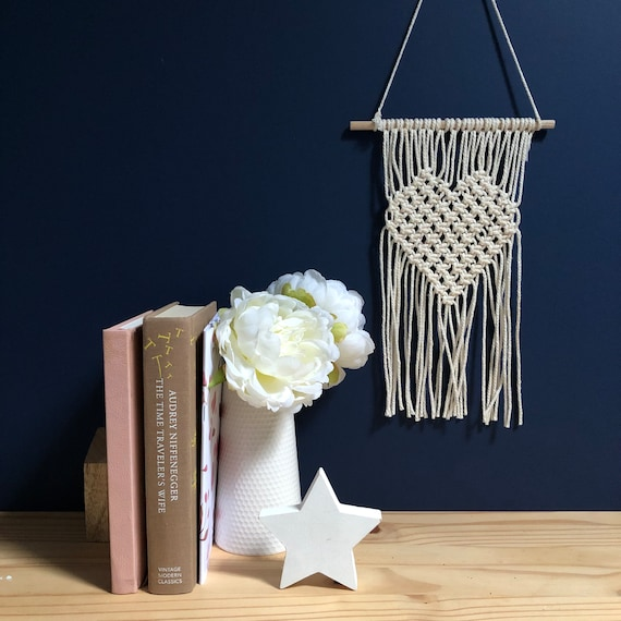 DIY Macramé Kit   Heart Macramé Kit   Macramé for beginners   Mother's Day Gift   Gift for her