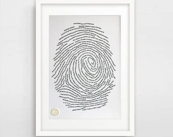Unique Fingerprint personalised Art Print