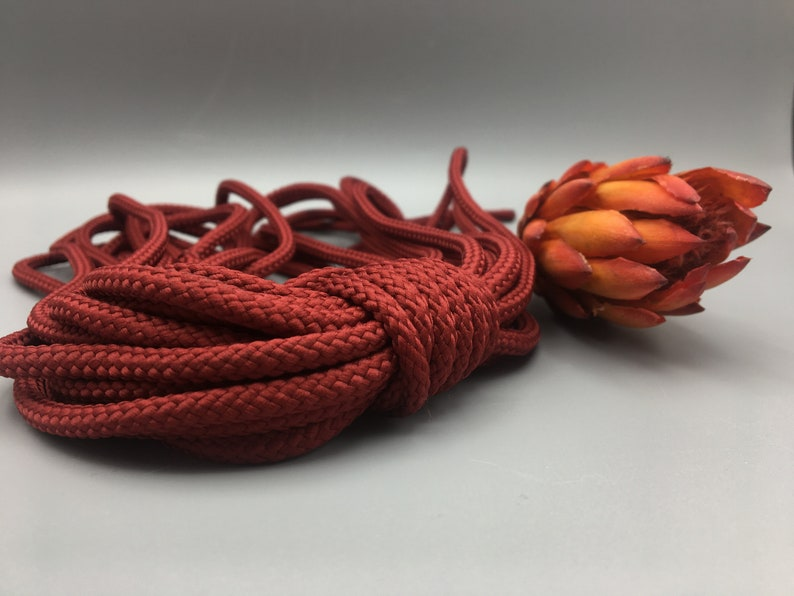 terracotta chunky yarn for knotted jewelry braided crochet cord supplies DIY basket bag project craft supply 5 mm polyester macrame rope