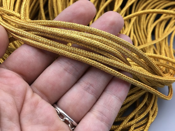 Lurex Kordel Metallisiertes Gold Metallischen Seil Glitter Etsy