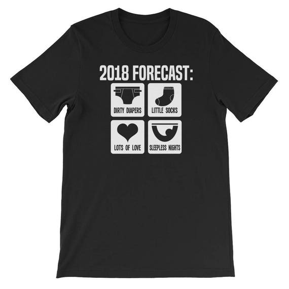 a71364b3b 2018 Forecast New Mom Dad Expecting T-Shirt-Mom or Dad | Etsy