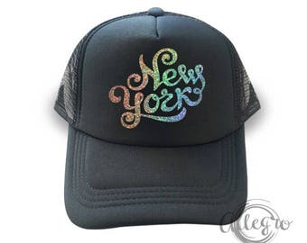 7468ce5c28e New York Hat US Mesh Truck Hats New York City Fashion Cap Hologram Cap  Fashion Hats
