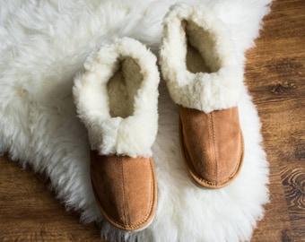 b131266fbf770 SHEEPSKIN slippers LEATHER slippers Fur slippers shearling | Etsy