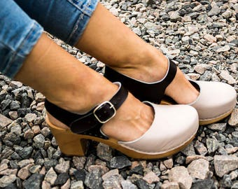 Clogs Heel Clogs Women/'s Clogs Leather Sandals Heel Women Shoes Sandals Women Summer Shoes women/'s fashion shoes from LAYKI A#252