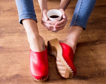 Swedish Clogs Moccasins Wooden clogs Women clogs Leather clogs Clog Womens  clogs Boots Womens moccasins Wood clogs Clogs boots Clogs brown 9d25a54e1