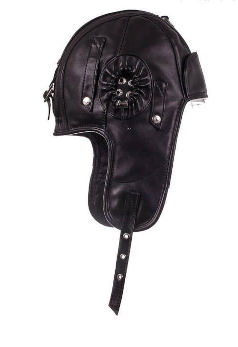 Men leather hat Trapper cap with earflap aviator hat ushanka  c6b83e2e68a9