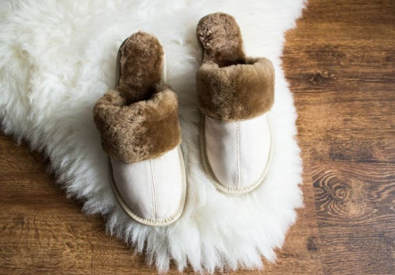 slippers slippers moccasins wool slippers winter warm LEATHER fur slippers sheep white Women SHEEPSKIN 1xdX7H1