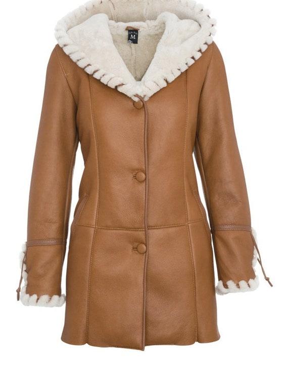Echte Leder Damen Mantel Lammfell Jacke neue Lammfell Mantel für Naturleder Winter warm grau Mantel mit Kapuze Geschenk für Frau Mantel