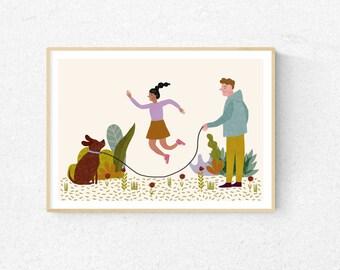 Spring! Children's Room poster * Art Print * Nursery print