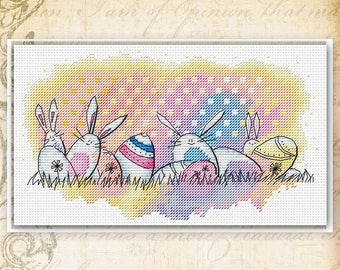 Easter bunny pattern bunny cross stitch Easter cross stitch rabbit cross stitch egg cross stitch easter egg pattern easter bunny xstitch