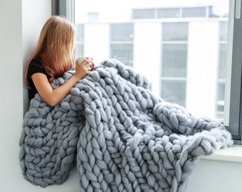 Chunky knit blanket a67f196a3