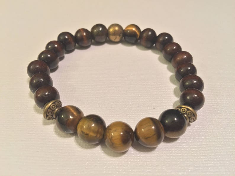 Gift for Her Protection Bracelet Wooden Bracelet WOODEN TIGER/'S EYE Bracelet :Tiger/'s Eye Bracelet Gift for Him Lucky Bracelet