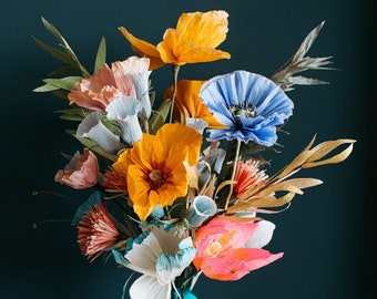Stunning colourful paper flowers